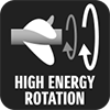 HIGH ENERGY ROTATION