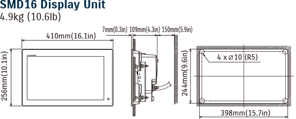 Diagram of SMD16 Display Unit