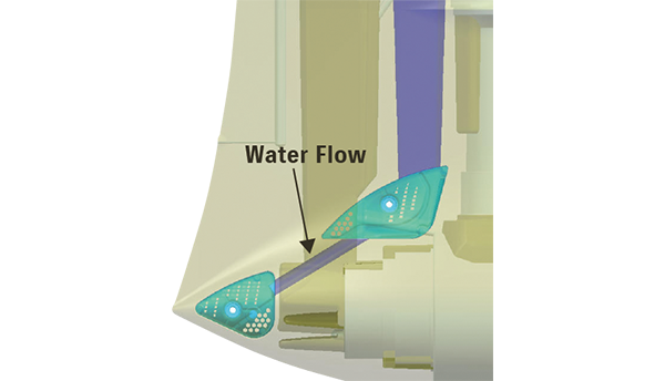 TWO-WAY WATER INLET